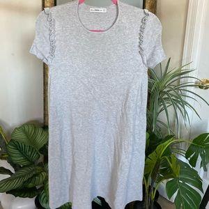 Zara Grey Knit Sweater Dress